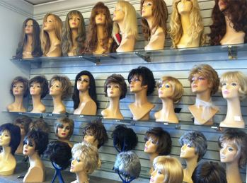 Synthetic Wigs at Kim's Wig Botik in Denver, Colorado